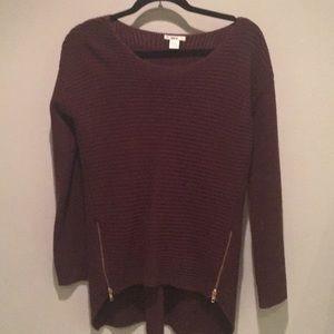 Burgundy bar III sweater